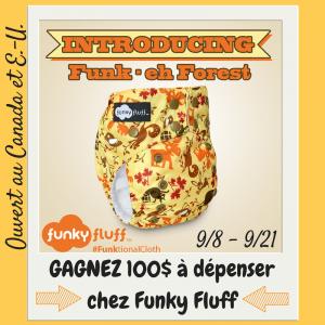 Rencontrez la nouvelle couche Funky Fluff et gagnez 100$