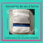 Les serviettes de sac à farine et les couches lavables