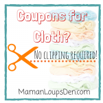 Coupons for Cloth? No Clipping Required!