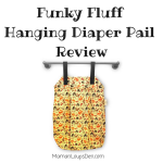 Funky Fluff Hanging Diaper Pail Review: #FUNKtionalCloth Laundry Solution
