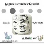 Gagnez 2 Couches Kawaii, gracieuseté de la boutique Le Chaton Vert