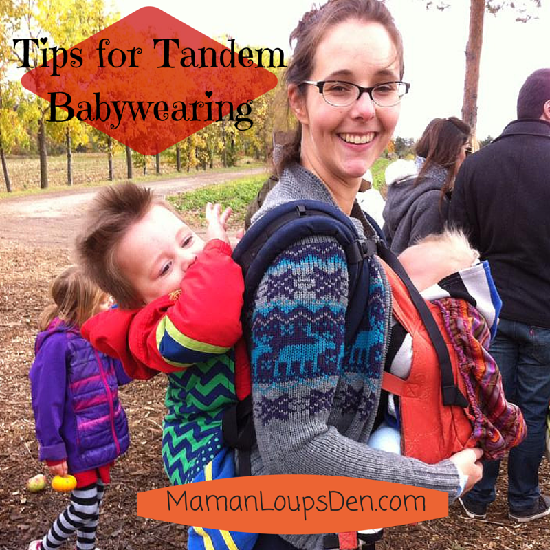 Tips for Tandem Babywearing