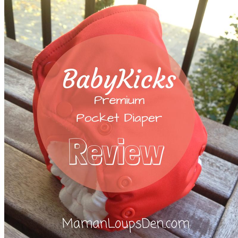 Baby Kicks Pocket Diaper Review ~ Maman Loup's Den