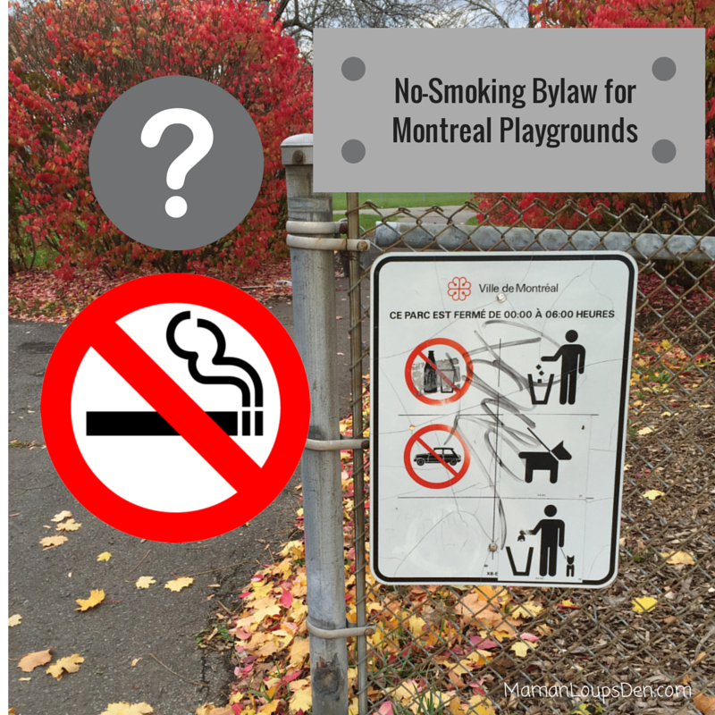 Call for No Smoking Bylaw Near Montreal Playgrounds