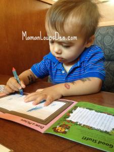 Cub draws letters