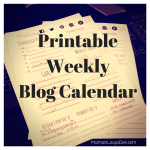 Printable Weekly Blog Calendar