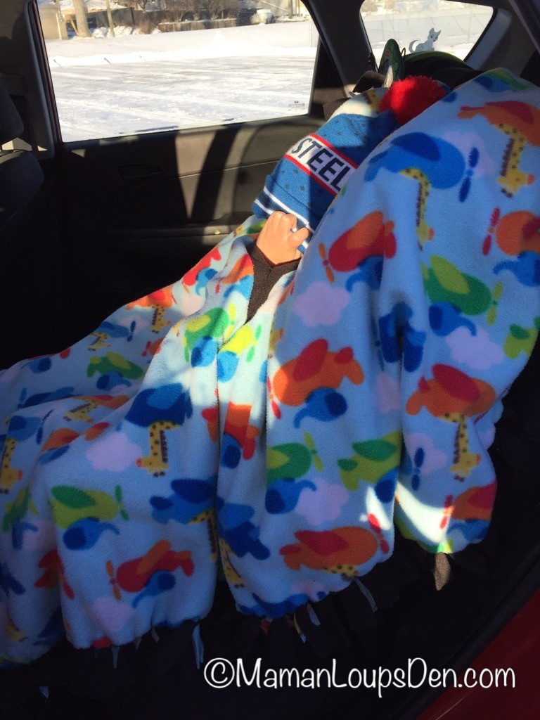 Canadian Baby Ponchos: Car Seat Poncho for Winter Safety in your Convertible Car Seat ~ Maman Loup's Den