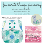 Win BumGenius Harper in the Favourite Things Giveaway Hop #clothdiaperfavs