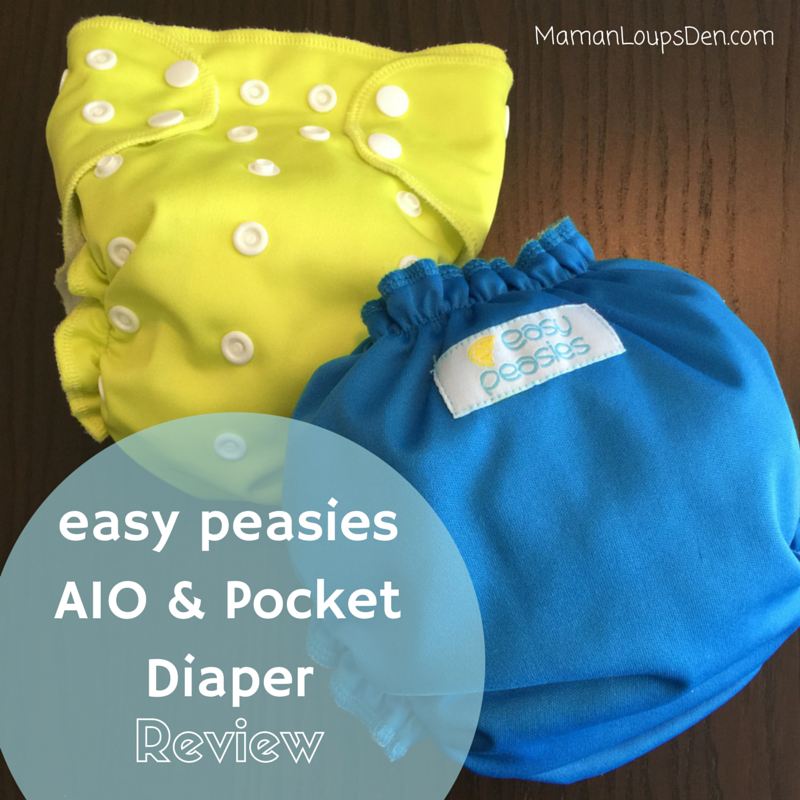 Easy Peasies AIO & Pocket Diaper Review