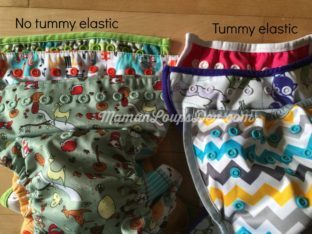 Cloth Diaper Cover Comparison: Tummy Elastic