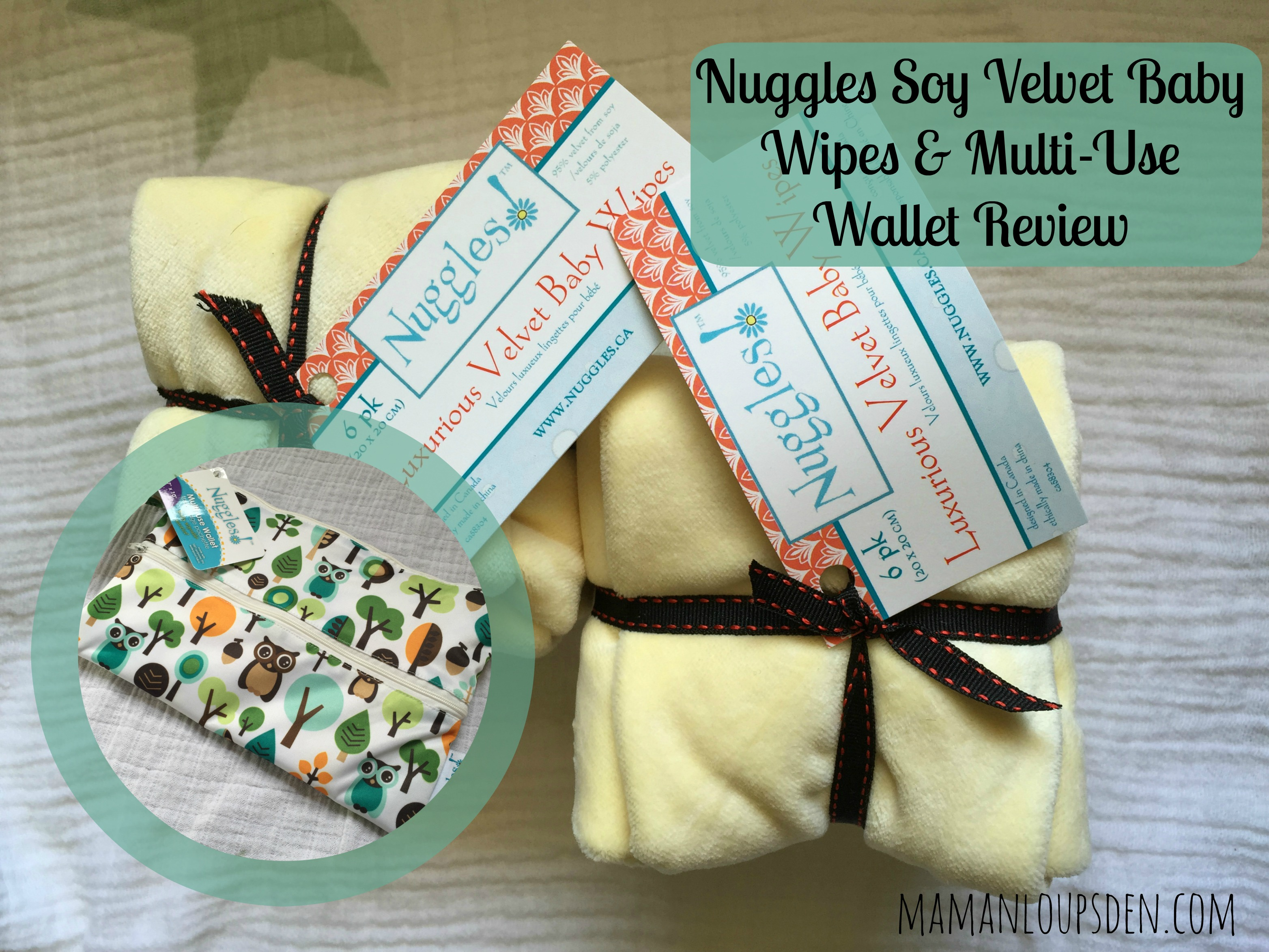 Nuggles Soy Velvet Baby Wipes and Multi-Use Wallet Review