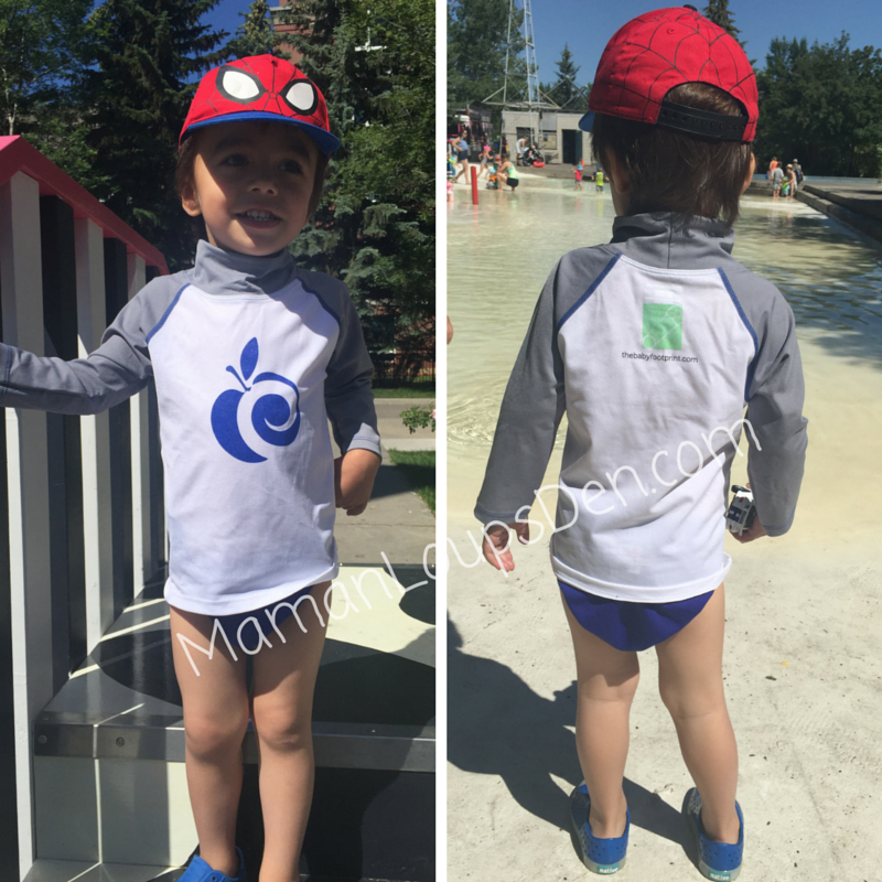 AppleCheeks Swim Shirt Review Front and Back