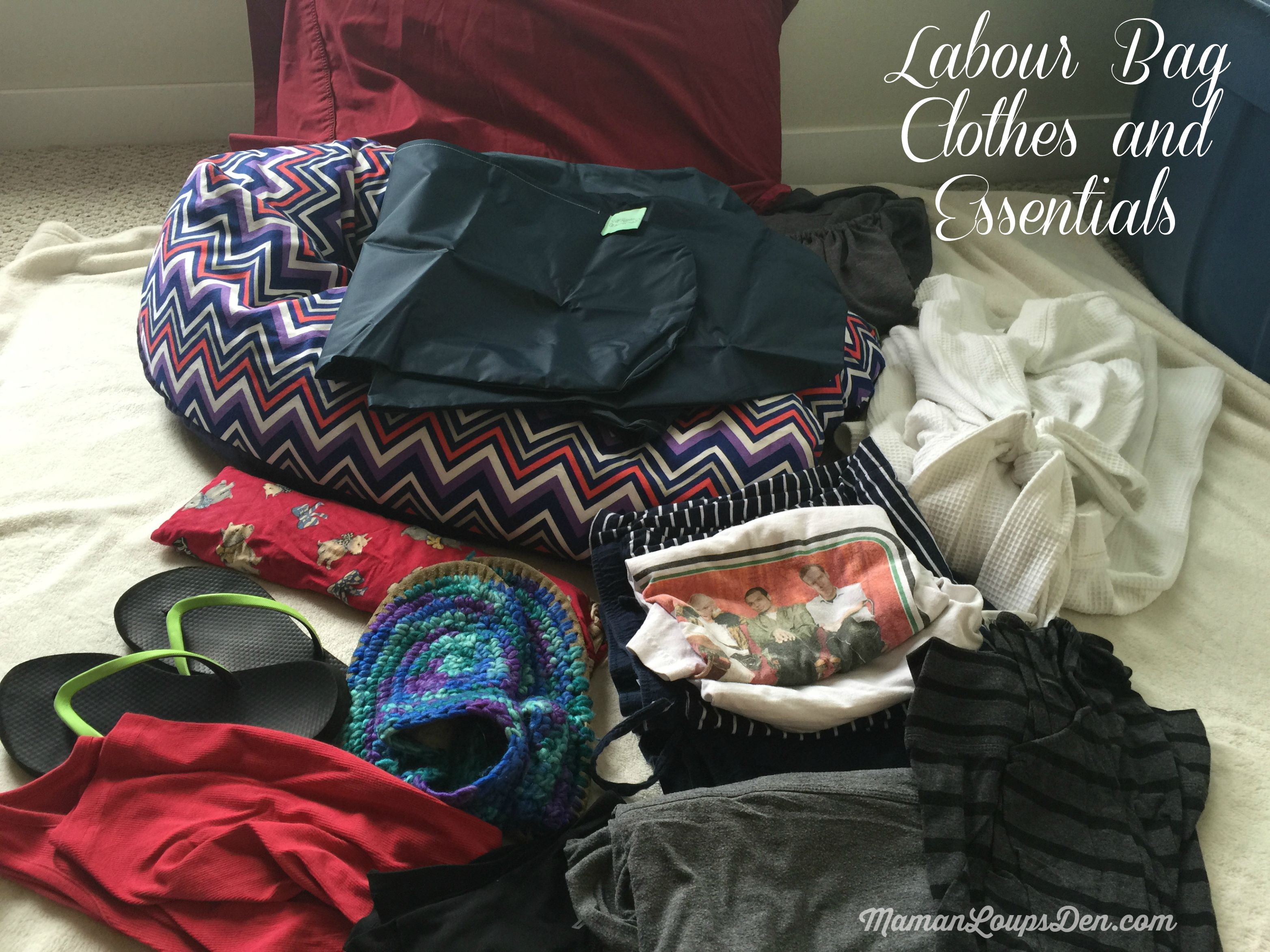 Labour Bag Clothes and Essentials ~ Maman Loup's Den