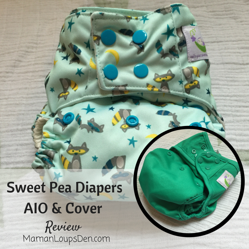Sweet Pea One-Size AIO Diaper and Diaper Cover Review by Maman Loup's Den