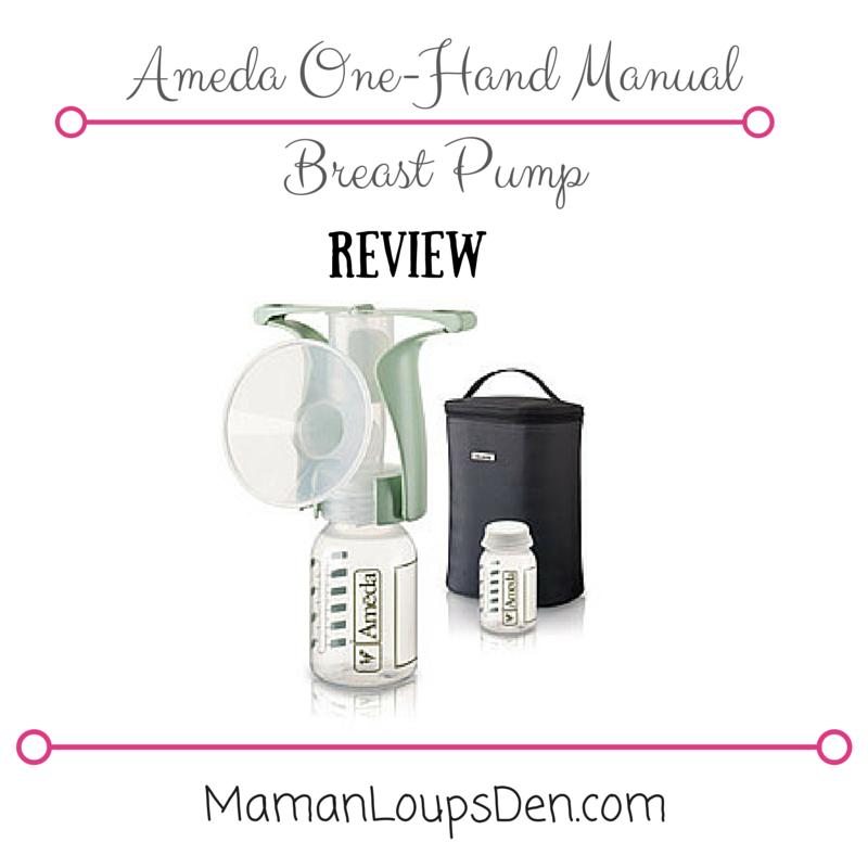 Ameda One-Handed Manual Breast Pump Review ~ Maman Loup's Den