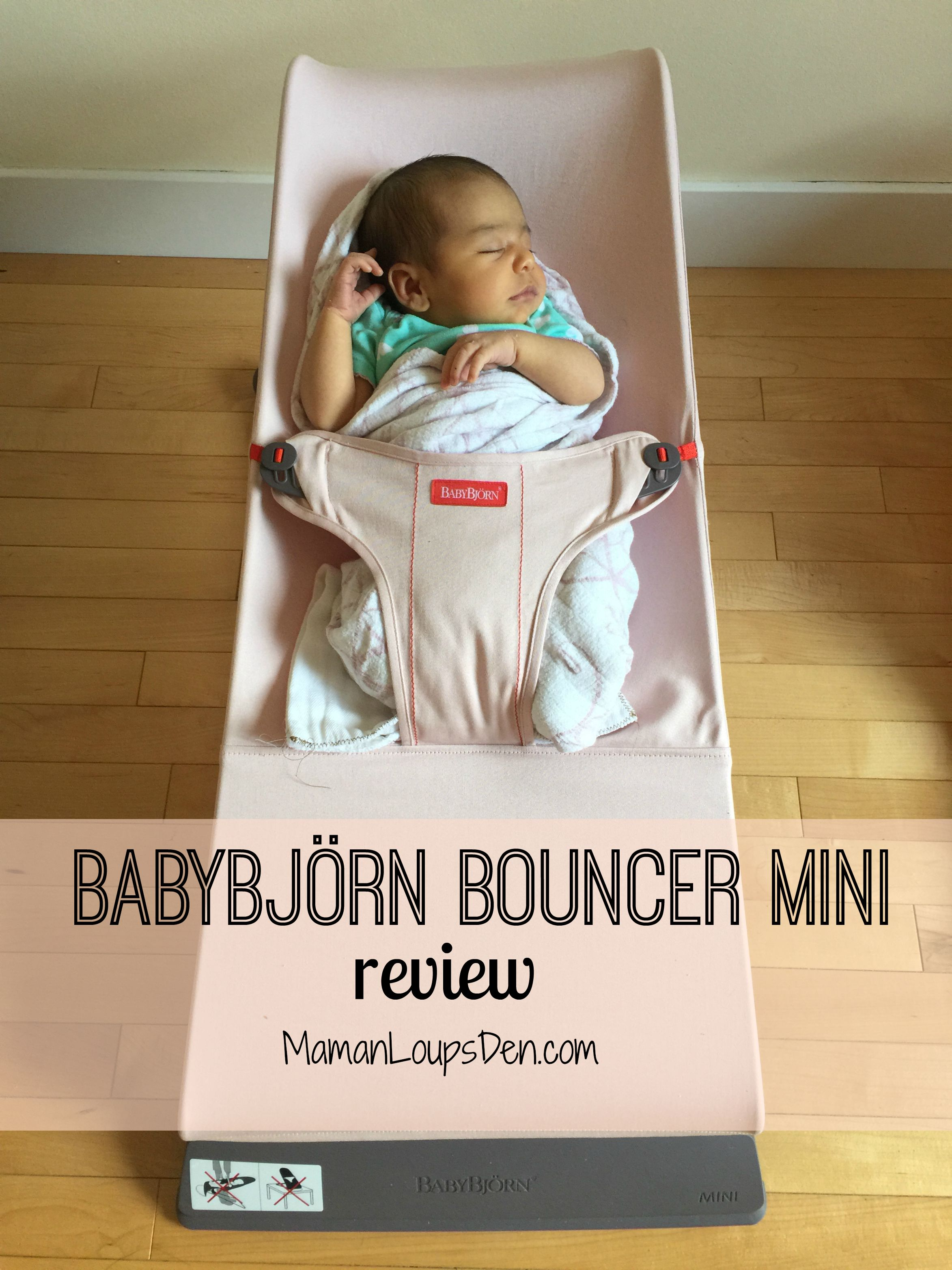 BabyBjorn Bouncer Mini Review ~ Maman Loup's Den