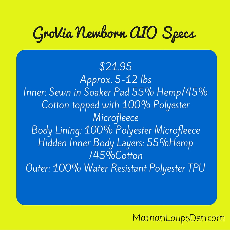 GroVia Newborn AIO Review ~ Maman Loup's Den