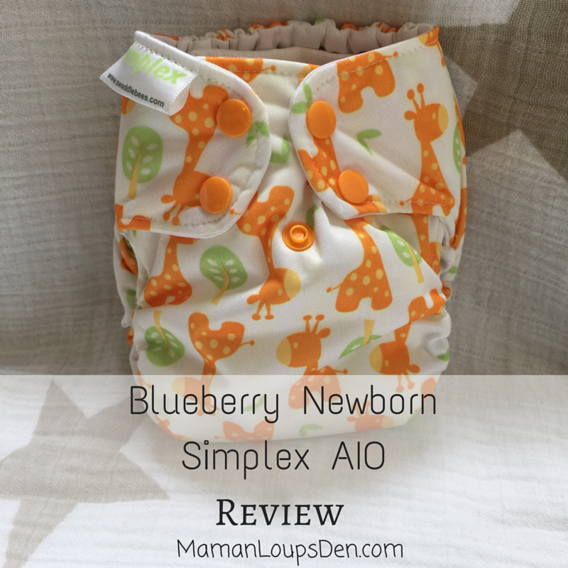 Blueberry Simplex Newborn AIO Review ~ Maman Loup's Den