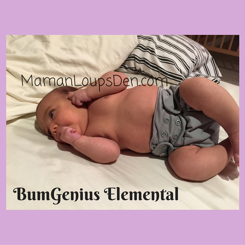 BumGenius Elemental on a Newborn: How Well Do One-Size Diapers Fit a Newborn ~ Maman Loup's Den