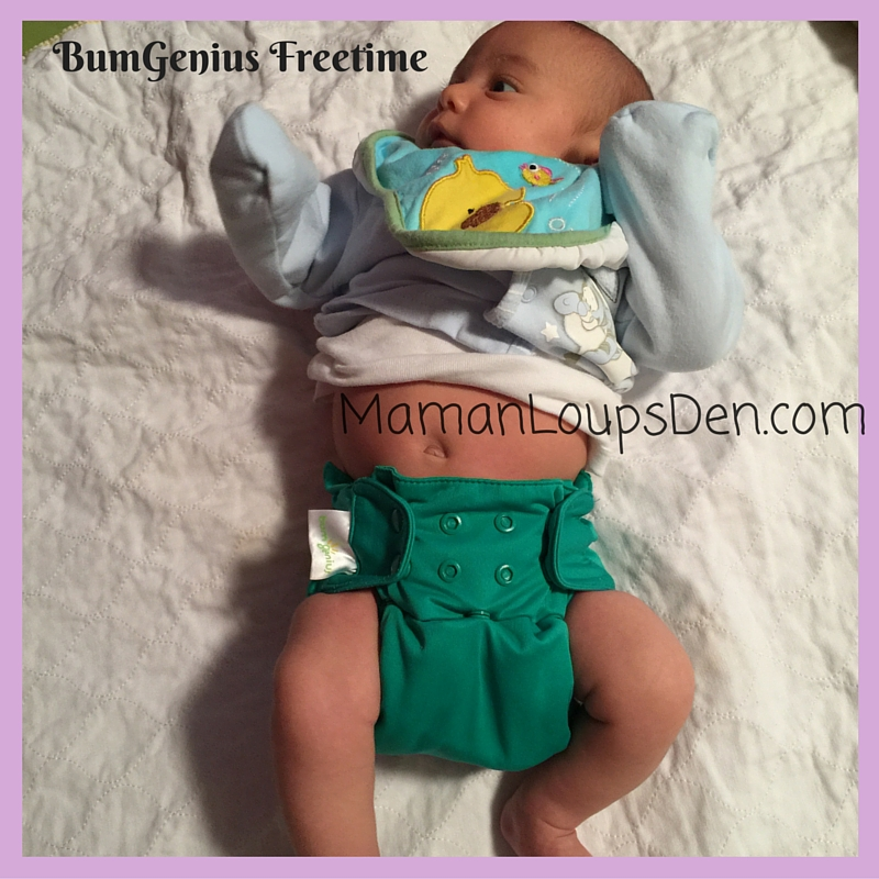 BumGenius Freetime on a Newborn: How Well Do One-Size Diapers Fit a Newborn ~ Maman Loup's Den
