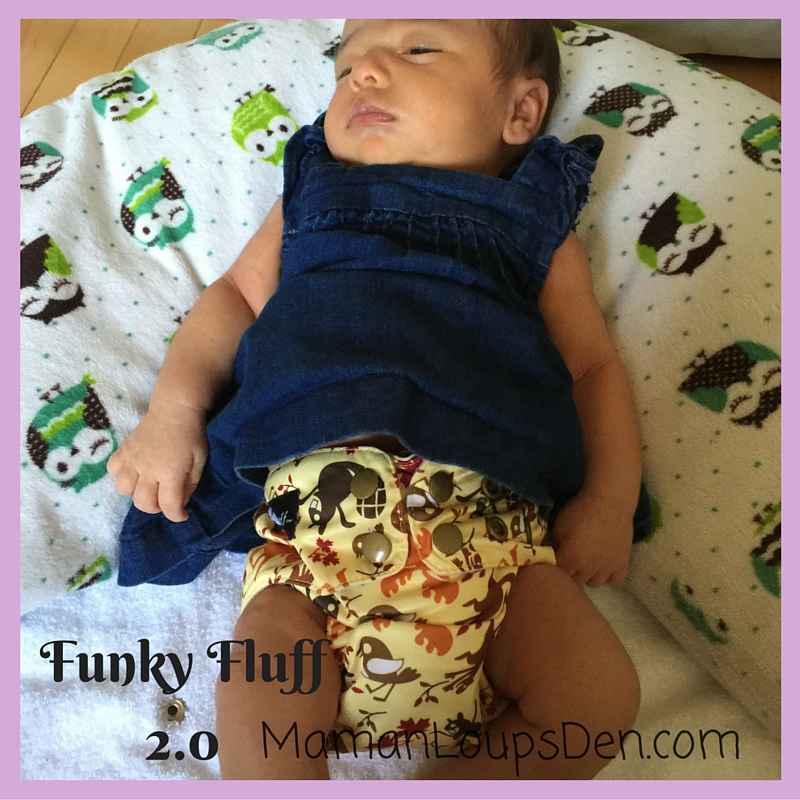 Funky Fluff 2.0 on a Newborn: How Well Do One-Size Diapers Fit a Newborn ~ Maman Loup's Den