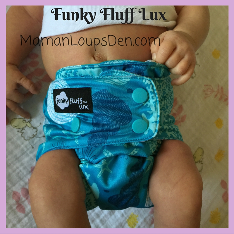 Funky Fluff Lux on a Newborn: How Well Do One-Size Diapers Fit a Newborn ~ Maman Loup's Den