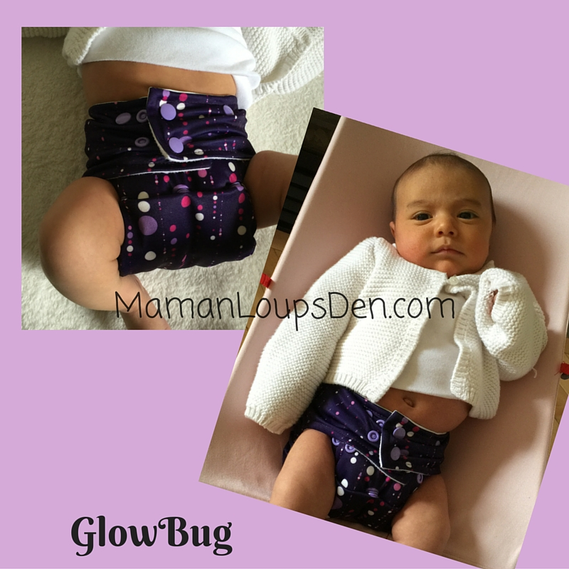 GlowBug Diaper on a Newborn: How Well Do One-Size Diapers Fit a Newborn ~ Maman Loup's Den