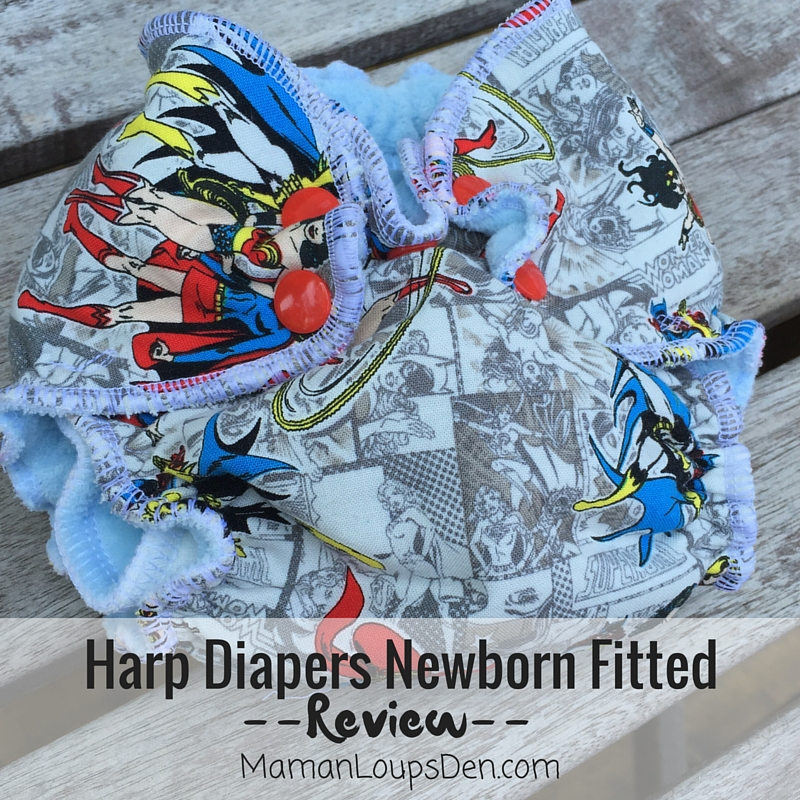 Harp Diapers Newborn Fitted Review ~ Maman Loup's Den