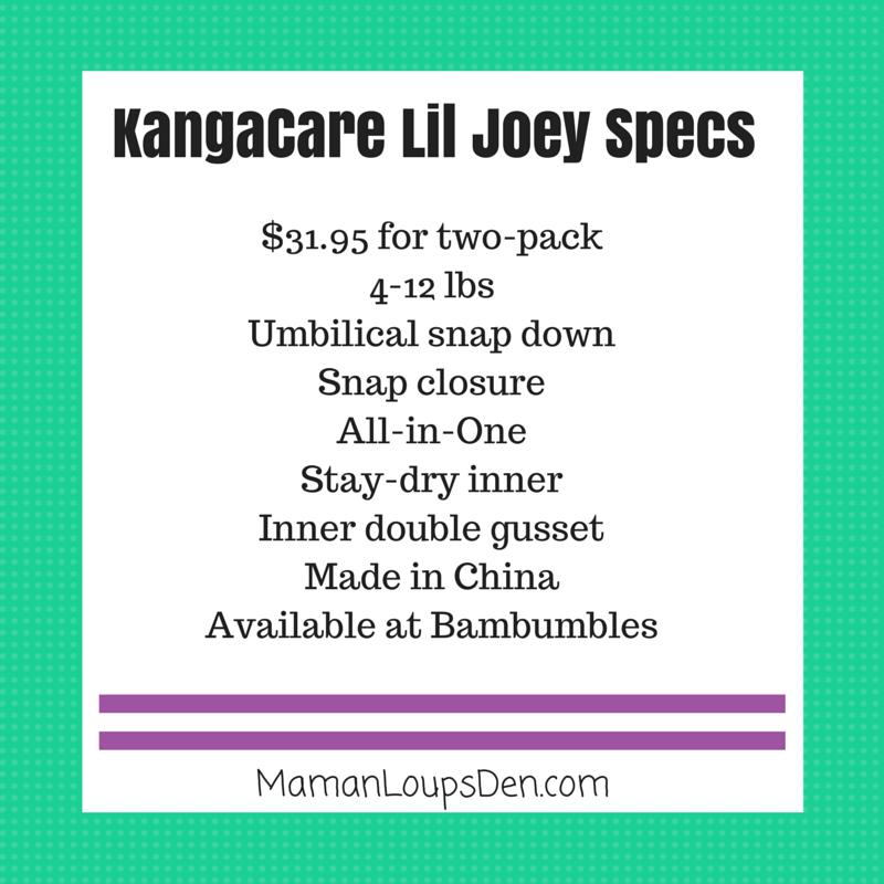 Lil' Joey Newborn AIO Review ~ Maman Loup's Den ~ Specs