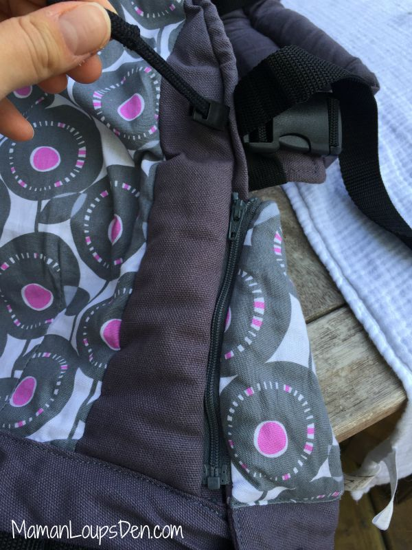 Liliputi Baby Carrier Review ~ Maman Loup's Den ~ Side adjustments