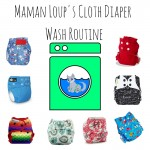 Maman Loup's Cloth Diaper Wash Routine {hard water & a top loader} #SchoolofCloth