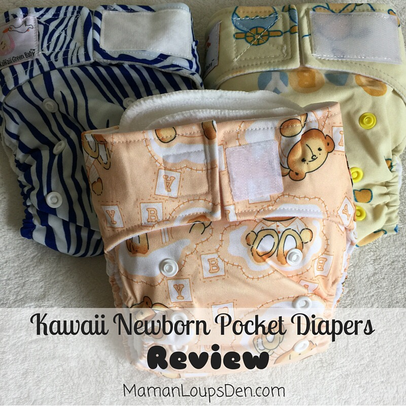 Kawaii Newborn Pocket Diaper Review ~ Maman Loup's Den