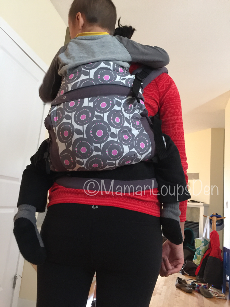 Liliputi Baby Carrier Review ~ Maman Loup's Den ~ Toddler Carry back view