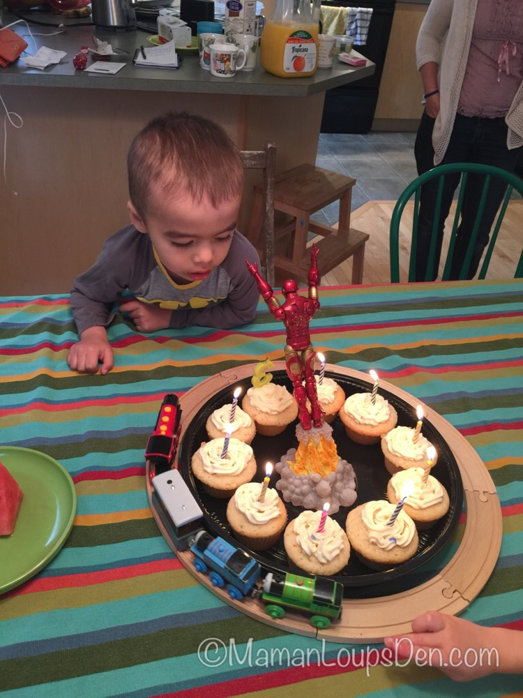 Little Miss Cub is 2 months old & Other Tidbits from the Den: Iron Man / Thomas Train Cake