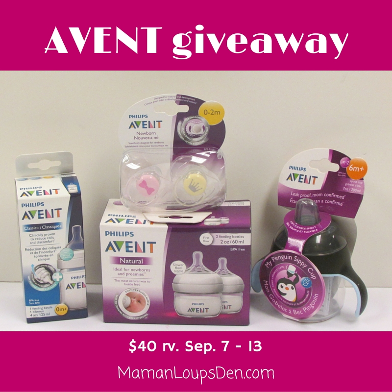 Philips AVENT Giveaway ~ Maman Loup's Den
