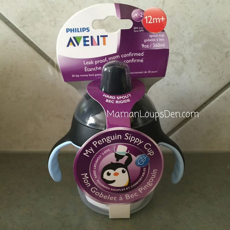 Philips AVENT My Penguin Sippy Cup ~ Maman Loup's Den ~ Review and Giveaway