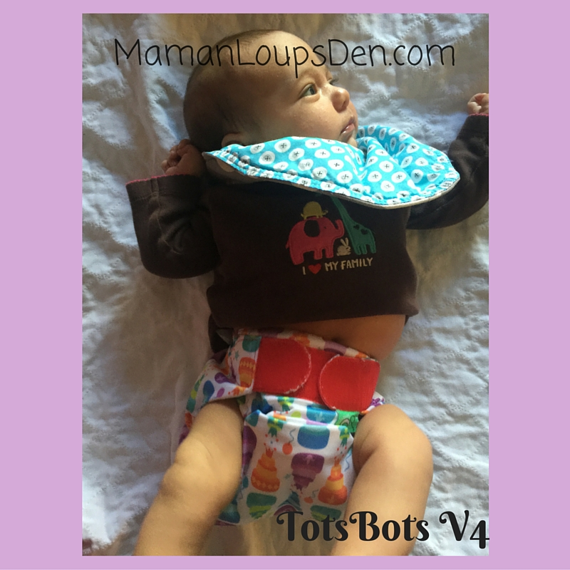 TotsBots V4 on a Newborn: How Well Do One-Size Diapers Fit a Newborn ~ Maman Loup's Den