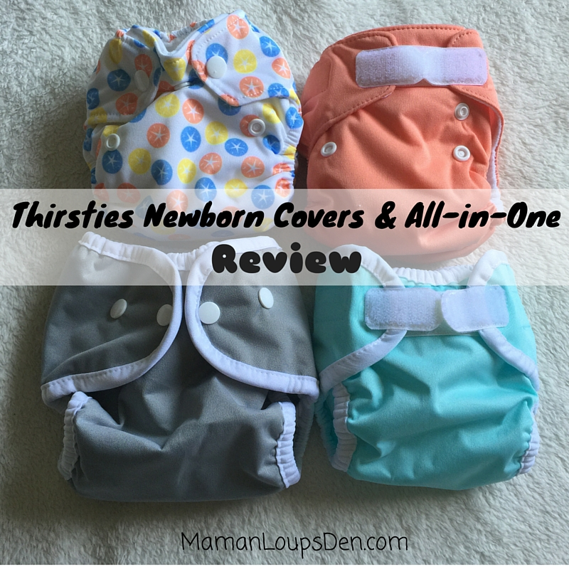 Thirsties Newborn Cloth Diapers Review ~ Maman Loup's Den