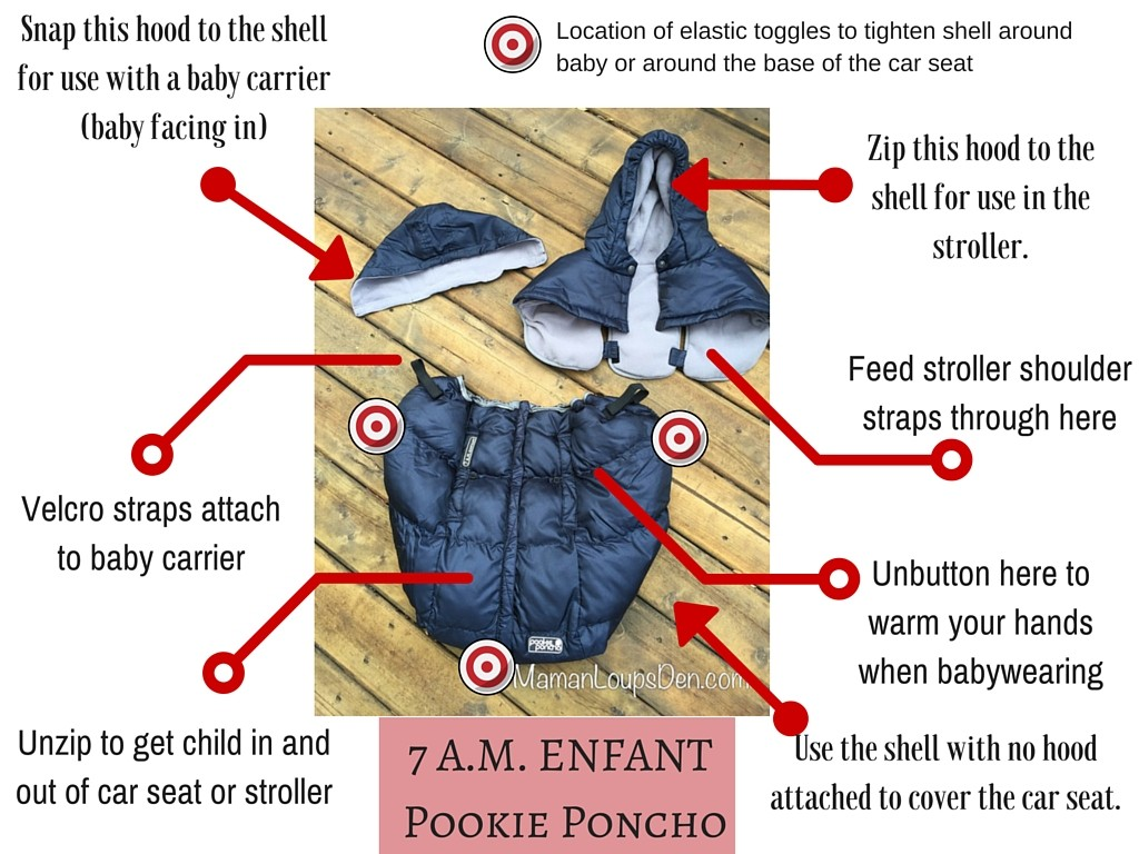 Features of the 7 A.M. ENFANT Pookie Poncho - Maman Loup's Den