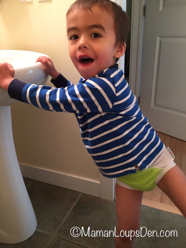 Apple Cheeks Cloth Learning Pants Review ~ Maman Loup's Den