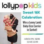 Lollypop Kids' Sweet 16K Celebration: Win a Lenny Lamb!