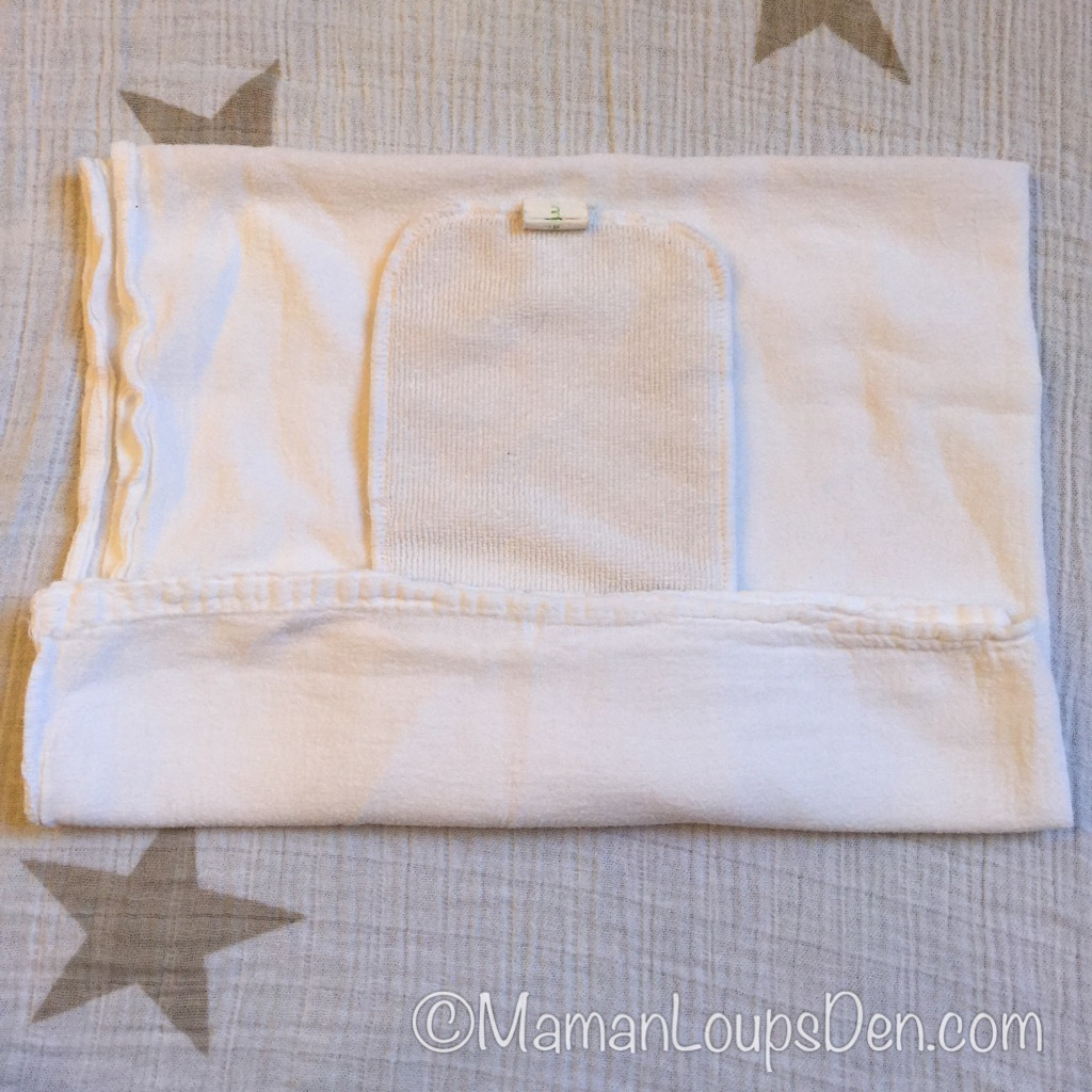 BumGenius Newborn Insert Inside a Flour Sack Towel ~ Maman Loup's Den