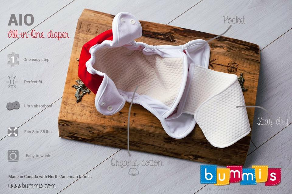 Bummis AIO Diaper ~ Made in Canada with North-American Fabrics --- Review by Maman Loup's Den