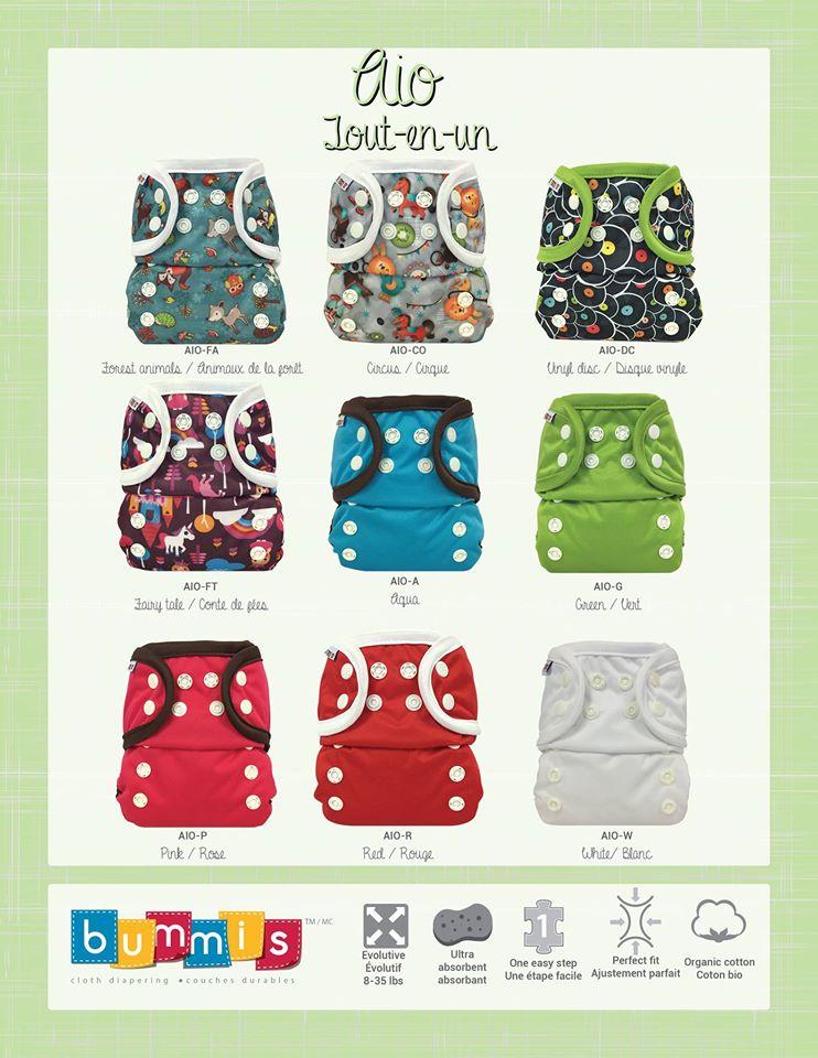 Bummis AIO Diaper Prints