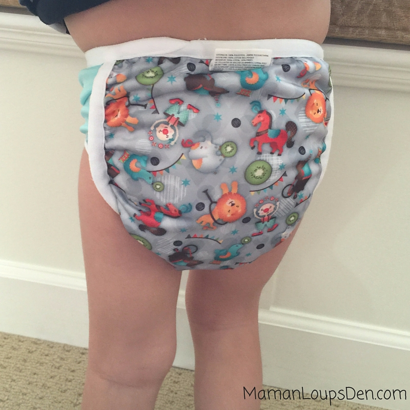 Bummis Potty Pant Review ~ Maman Loup's Den ~ Back View on Cub
