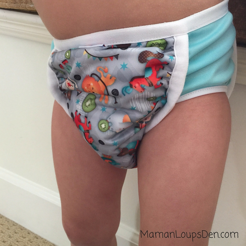 Bummis Potty Pant Review ~ Maman Loup's Den ~ Front View on Cub