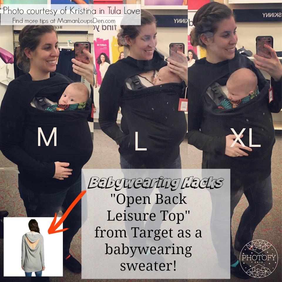 Target Babywearing Sweater - Maman Loup's Den - Babywearing Hacks