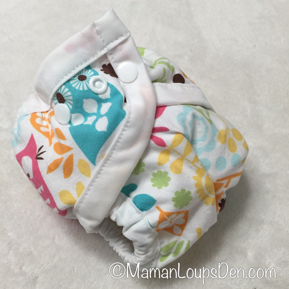 SnuggyBaby diaper cover at its smallest
