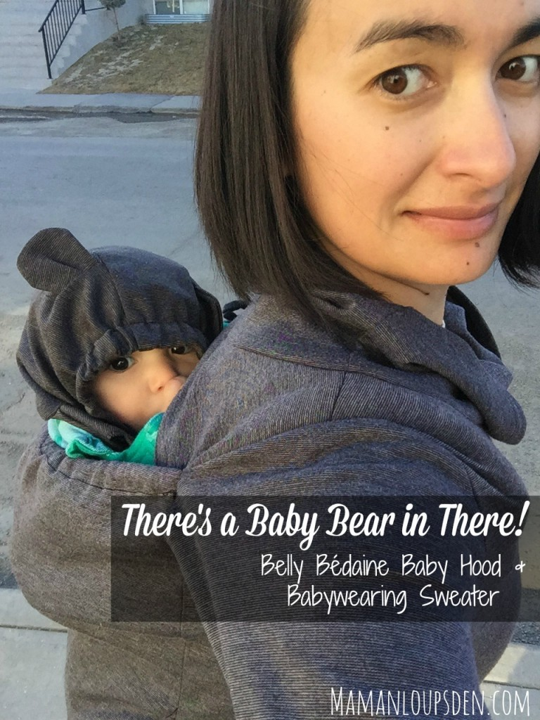 Belly Bedaine Baby Hood and Babywearing Sweater