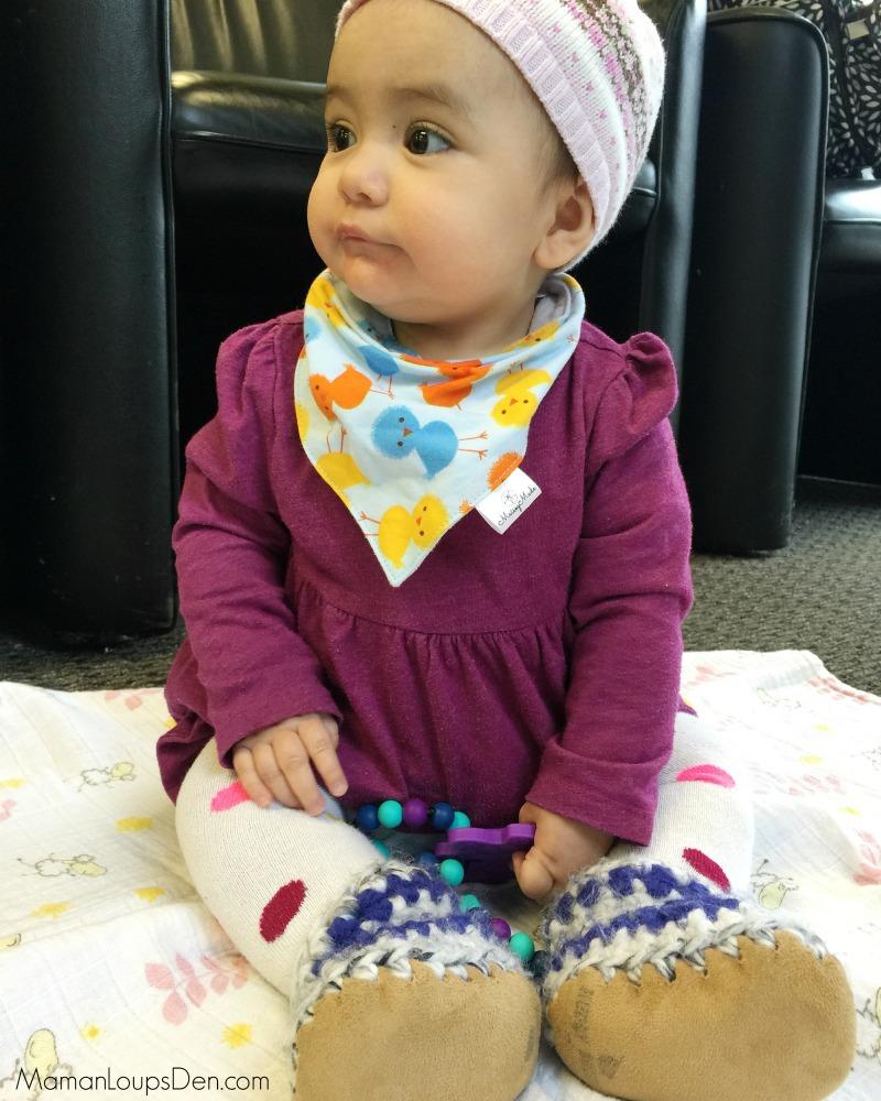 Little Miss Cub rocks her Huddy Buddies